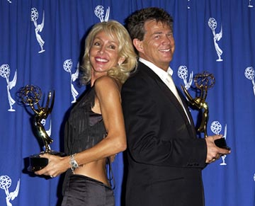 Linda Thompson (II) and David Foster Emmy Creative Arts Awards - 9/13/2003