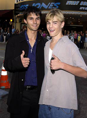 Premiere: Adam LaVorgna and David Gallagher at the Westwood premiere of Warner Brothers' Summer Catch - 8/22/2001