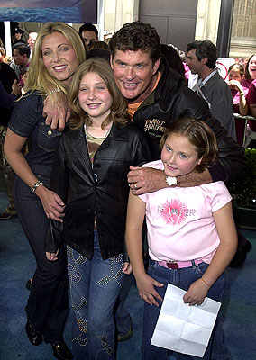 Premiere: Pamela Bach, David Hasselhoff and family at the Los Angeles premiere of Disney's Atlantis: The Lost Empire - 6/6/2001