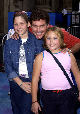 Premiere: David Hasselhoff and kids at the Hollywood premiere of Monsters, Inc. - 10/28/2001