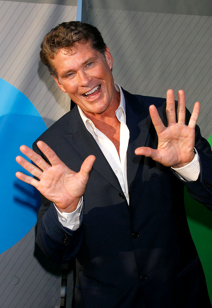 "David Hasselhoff arrives at the ""NBC TCA Party"" at the Beverly Hilton Hotel on July 17, 2007 in Beverly Hills, California."
