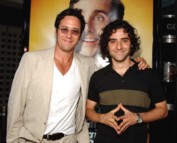 Premiere: Rob Morrow and David Krumholtz at the Hollywood premiere of Universal Pictures' The 40-Year-Old Virgin - 8/11/2005