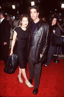 Premiere: David Schwimmer and gal at the Westwood premiere of Columbia's Cruel Intentions - 2/25/1999