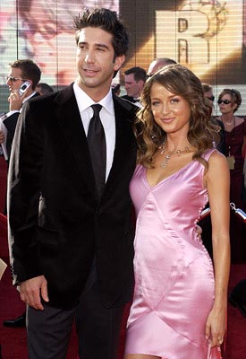 David Schwimmer and gal 55th Annual Emmy Awards - 9/21/2003