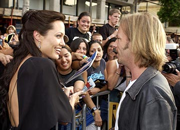 Premiere: Angelina Jolie and David Spade at the LA premiere of Paramount's Lara Croft Tomb Raider: The Cradle of Life - 7/21/2003