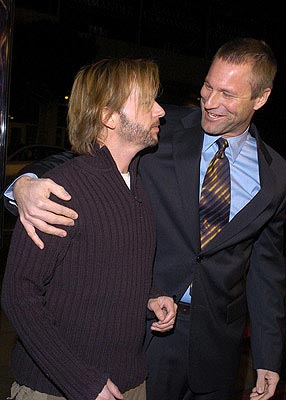 Premiere: David Spade and Aaron Eckhart at the LA premiere of Paramount's Paycheck - 12/18/2003