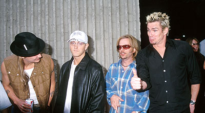 Premiere: Kid Rock, Eminem, David Spade and Mark McGrath at the Hollywood premiere of Columbia's Joe Dirt - 4/1/2001