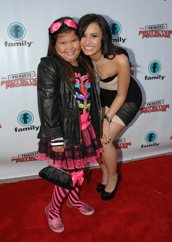"Madison Delagarza and sister, Demi Lovato, attend the Red Carpet Premiere For Disney's ""Princess Protection Program"" at the Queen Elizabeth Theatre on June 18, 2009 in Toronto, Canada."