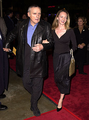 Premiere: Dennis Hopper and his wife at the Los Angeles premiere of Warner Brothers' The Pledge - 1/09/2001