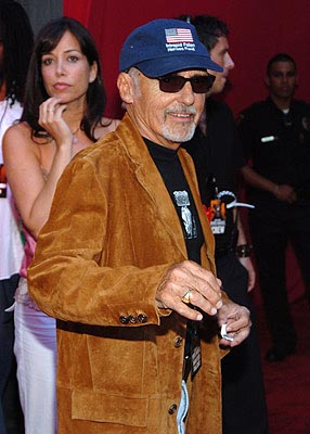 Dennis Hopper has a vague Billy Bob Thornton sort of look going, while the woman behind him ponders whether she looks more like Sofia Coppola or Illeana Douglas. MTV Movie Awards - 6/5/2004