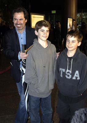 Premiere: Dennis Miller and sons Morton and Holden at the Hollywood premiere of Warner Bros. A Mighty Wind - 4/14/2003
