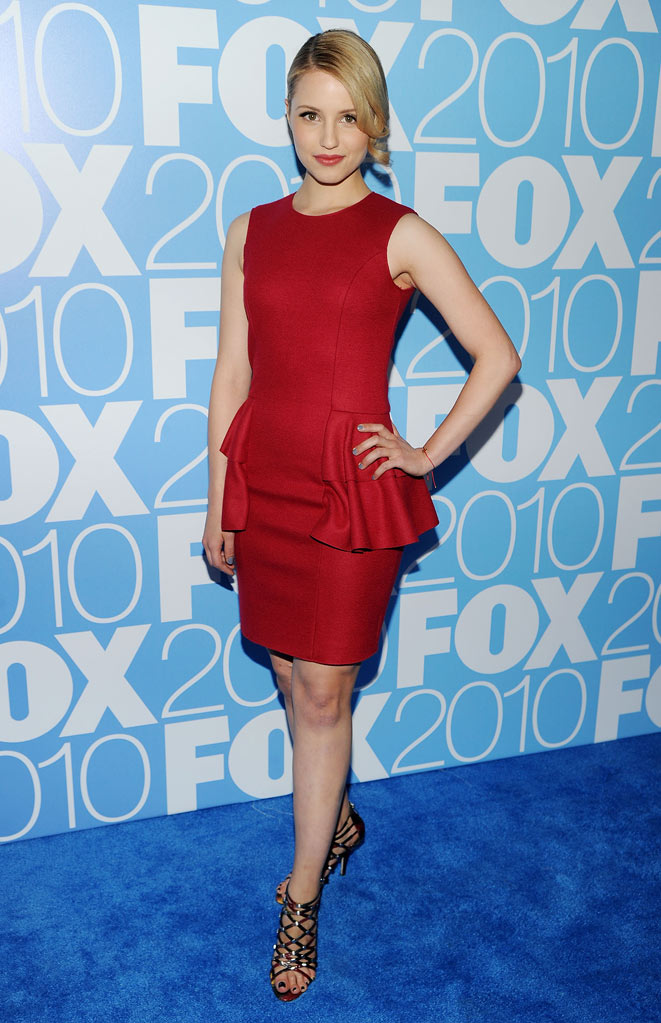 "Dianna Agron (""Glee"") attends the 2010 Fox Upfront after party at Wollman Rink, Central Park on May 17, 2010 in New York City."