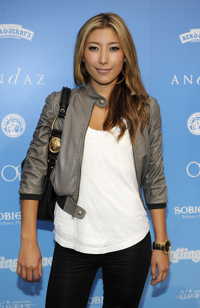 "Dichen Lachman arrives at the Rolling Stone ""Rock The Roof"" party held at the Andaz Hotel in West Hollywood, California on August 13, 2009."