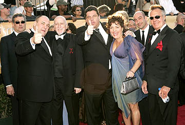 James Gandolfini, Dominic Chianese, Steven Schirripa, Aida Turturro, John Ventimiglia and Tony Sirico Screen Actors Guild Awards - 2/5/2005