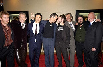 Premiere: David Wenham, Ian McKellen, Orlando Bloom, Viggo Mortensen, Dominic Monaghan, Robert Shaye, Peter Jackson and Michael Lynne at the LA premiere of New Line's The Lord of the Rings: The Return of The King - 12/3/2003