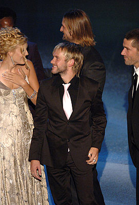 "Maggie Grace, Dominic Monaghan, Josh Holloway, Matthew Fox Outstanding Drama Series ""Lost"" Emmy Awards - 9/18/2005"