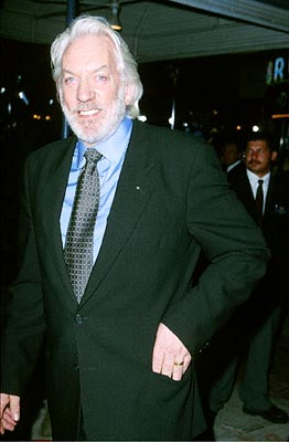 Premiere: Donald Sutherland at the Mann's Village Theatre premiere of Warner Brothers' Space Cowboys - 8/1/2000