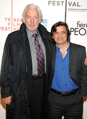Donald Sutherland and director Griffin Dunne Fierce People premiere - Tribeca Film Festival April 23, 2005 - New York, NY