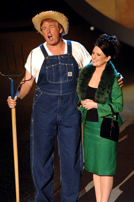 "Donald Trump and Megan Mullally performing ""Green Acres"" Emmy Awards - 9/18/2005 Donald Trump"