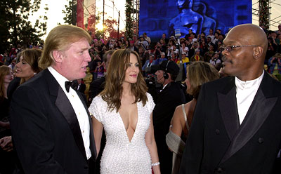 Donald Trump, a buxom lass and Samuel L. Jackson 73rd Academy Awards Los Angeles, CA  3/25/2001 Donald Trump