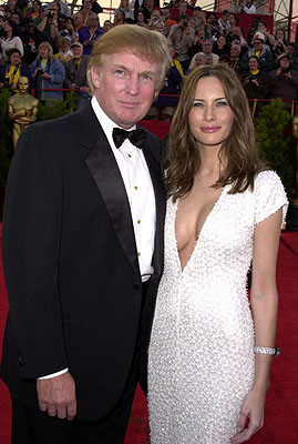 Donald Trump and buxom lass 73rd Academy Awards Los Angeles, CA  3/25/2001 Donald Trump