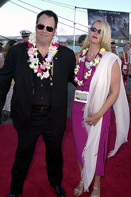 Premiere: Dan Aykroyd and Donna Dixon aboard the USS John C. Stennis at the Honolulu, Hawaii premiere of Touchstone Pictures' Pearl Harbor - 5/21/2001