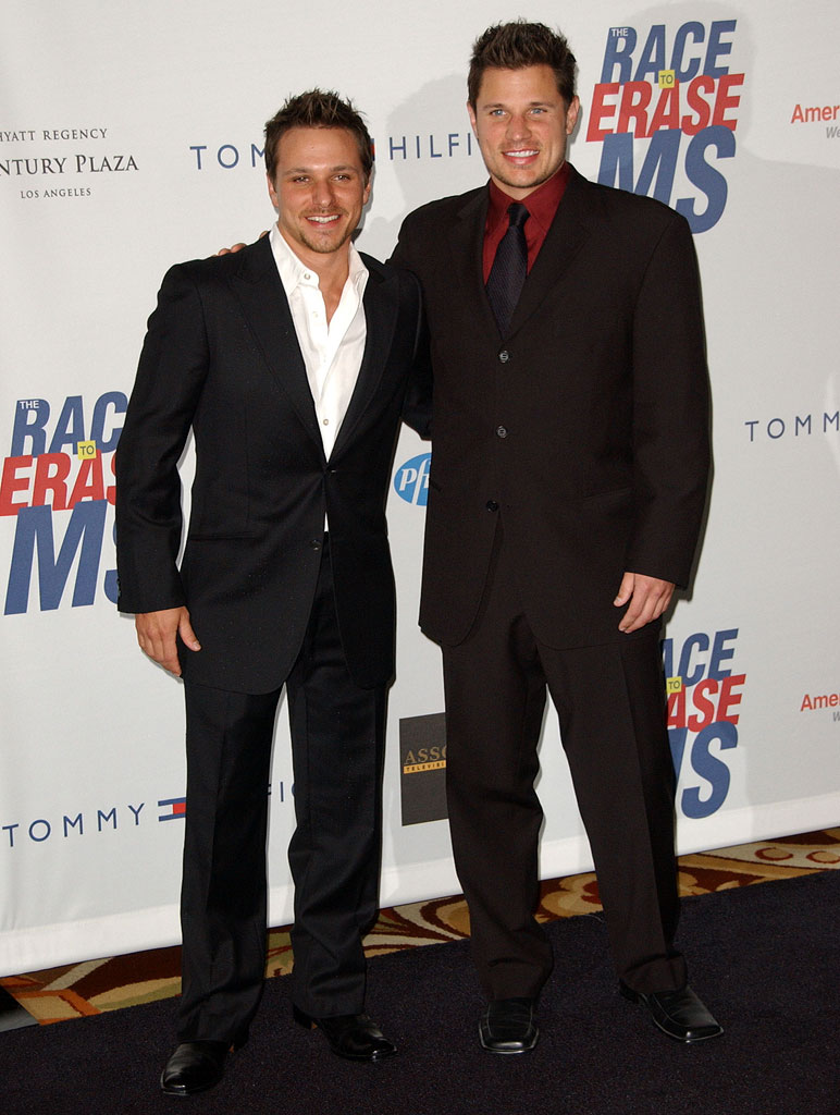 Drew Lachey and Nick Lachey at The 14th Annual Entertainment Industry Foundation Revlon Run/Walk for Women.