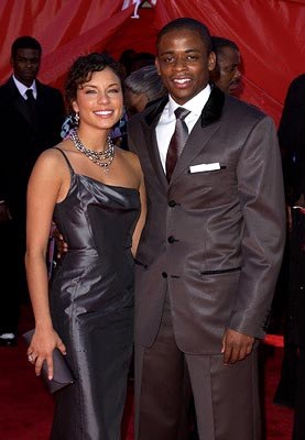 Dule Hill and gal Emmy Awards - 9/22/2002