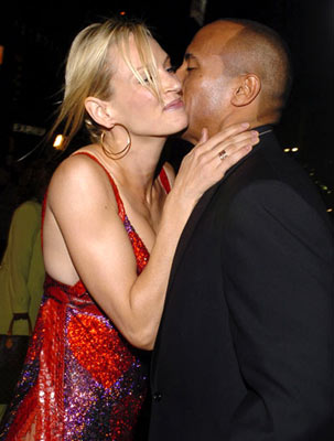 "Premiere: Uma Thurman and Dwayne ""The Rock"" Johnson at the Hollywood premiere of MGM's Be Cool - 2/14/2005"