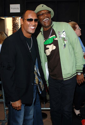 "Dwayne ""The Rock"" Johnson and Samuel L. Jackson MTV Movie Awards 2005 - Arrivals Los Angeles, CA - 6/4/05"