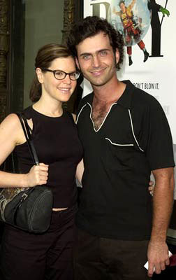 Premiere: Lisa Loeb and Dweezil Zappa at the Hollywood premiere of Touchstone's Bubble Boy - 8/23/2001