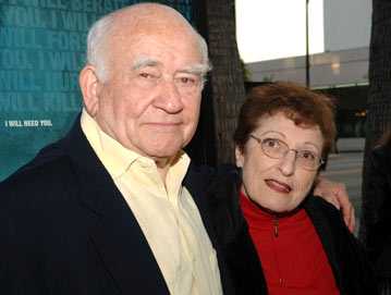 Premiere: Edward Asner and wife at the Beverly Hills premiere of Lions Gate Films' Crash - 4/26/2005