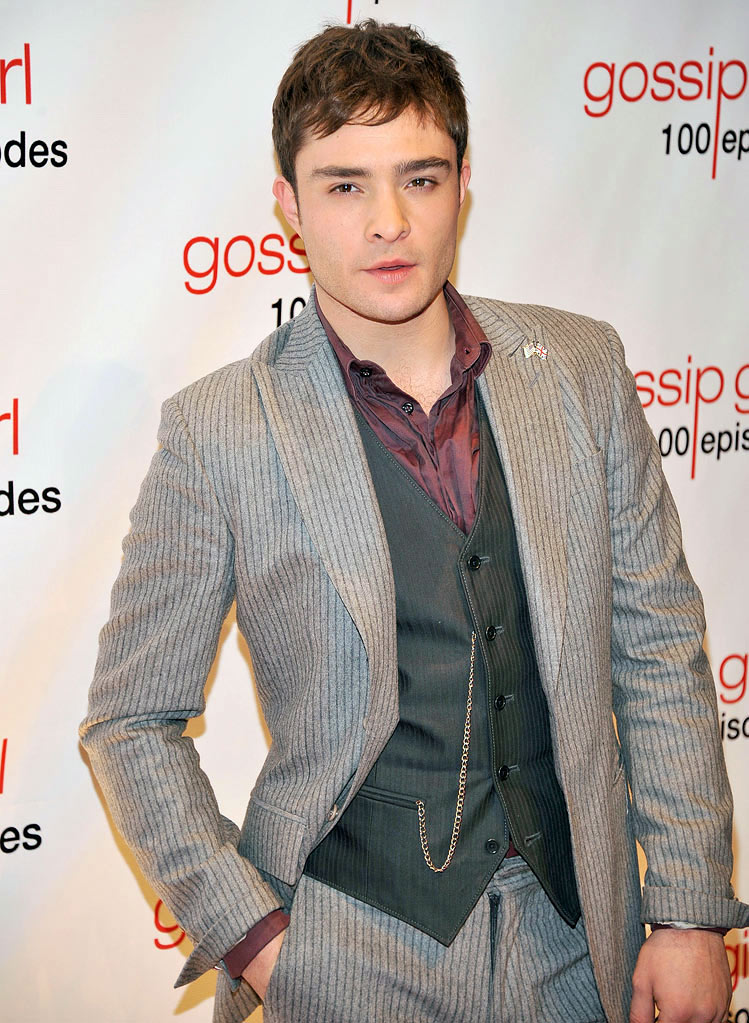 "Ed Westwick attends the ""Gossip Girl"" 100 episode celebration at Cipriani Wall Street on November 19, 2011 in New York City."