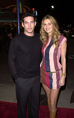 Premiere: Eddie Cibrian and fiancee Brandy at the Westwood premire of 20th Century Fox's Say It Isn't So - 3/12/2001
