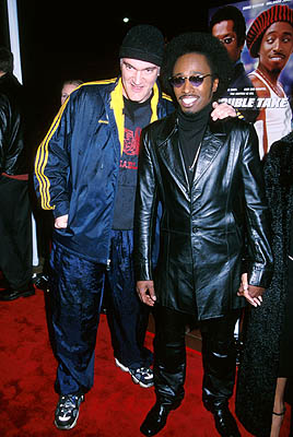 Premiere: Quentin Tarantino and Eddie Griffin at the Hollywood premiere of Touchstone's Double Take - 1/10/2001