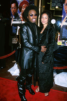 Premiere: Eddie Griffin and his gal at the Hollywood premiere of Touchstone's Double Take - 1/10/2001