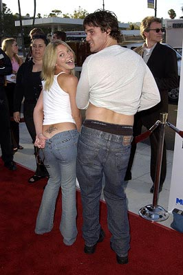Premiere: Amanda Detmer and Eddie McClintock at the Beverly Hills premiere of Miramax's Full Frontal - 7/23/2002