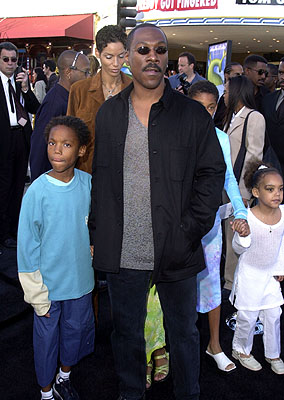 Premiere: Eddie Murphy and entourage at the Westwood, CA premiere of DreamWorks Pictures' Shrek - 4/22/2001