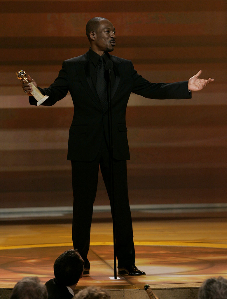 "Eddie Murphy gives a heartfelt acceptance speech when he wins Best Supporting Actor for ""Dreamgirls"" at the 64th annual Golden Globe Awards."