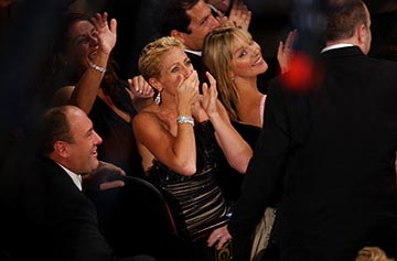 James Gandolfini, Aida Turturro, Edie Falco and Kim Cattrall Emmy Awards - 9/19/2004