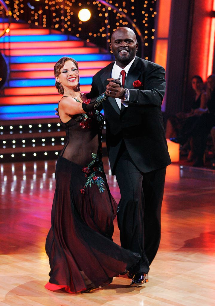 "Lawrence Taylor and Edyta Sliwinska perform the Quickstep to ""As Long as I'm Singing"" by The Brian Setzer Orchestra on ""Dancing with the Stars."""