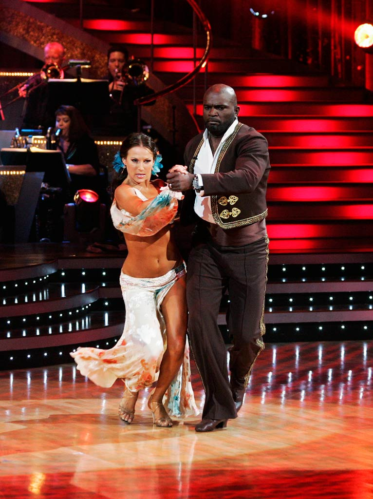 "Lawrence Taylor and Edyta Sliwinska perform the Paso Doble to ""Granada"" by Manhattan Pops Orchestra on ""Dancing with the Stars."""