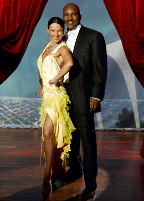 Evander Holyfield teams up with professional dancer Edyta Sliwinska for Season 1 of Dancing with the Stars
