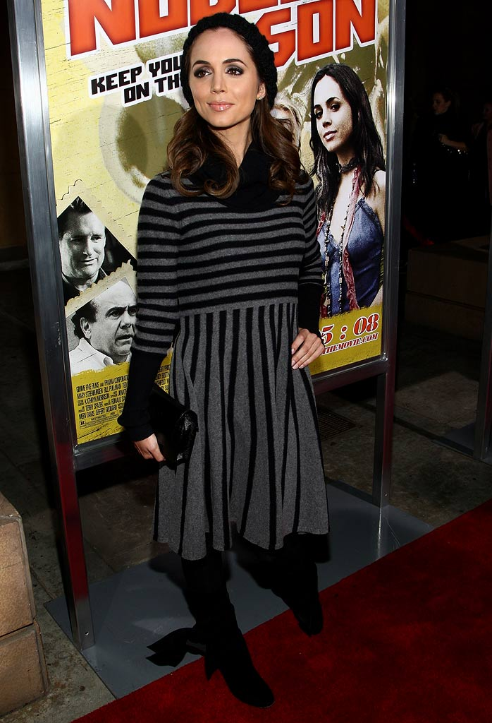 "Eliza Dushku arrives at the premiere of Freestyle Releasing's ""Nobel Son"" held at the Egyptian Theatre on December 2, 2008 in Hollywood, California."