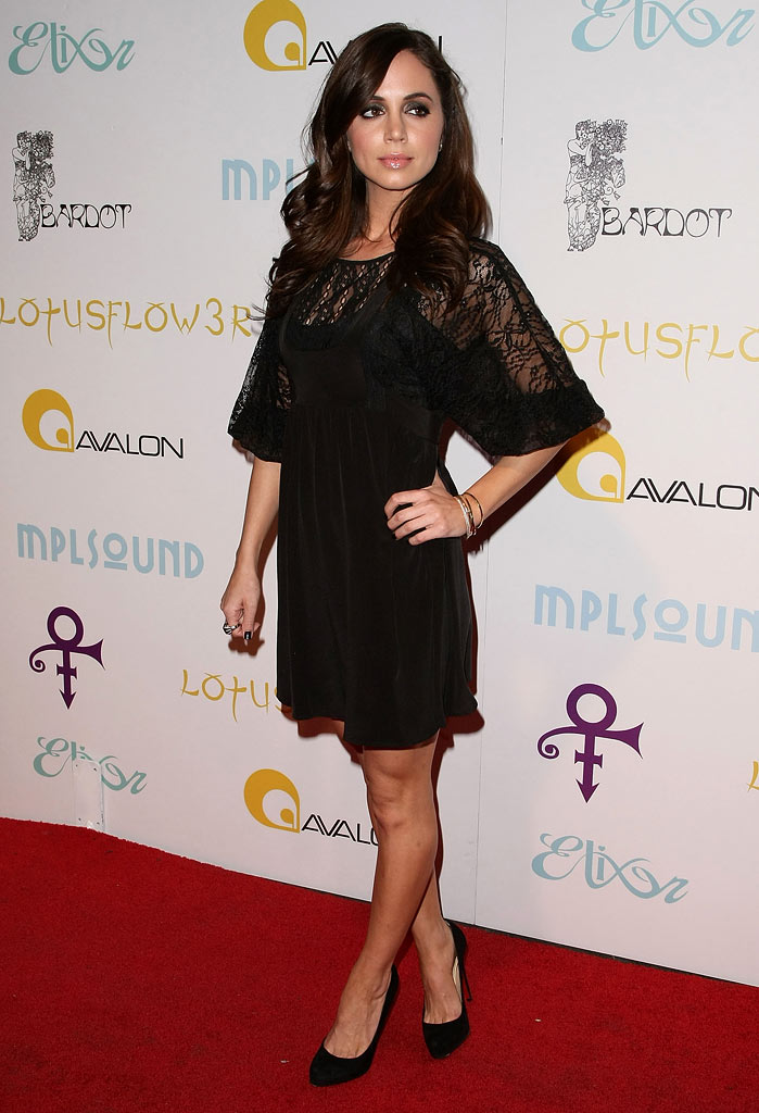 "Eliza Dushku attends Prince's ""The Purple Party"" at The Avalon on February 22, 2009 in Los Angeles, California."