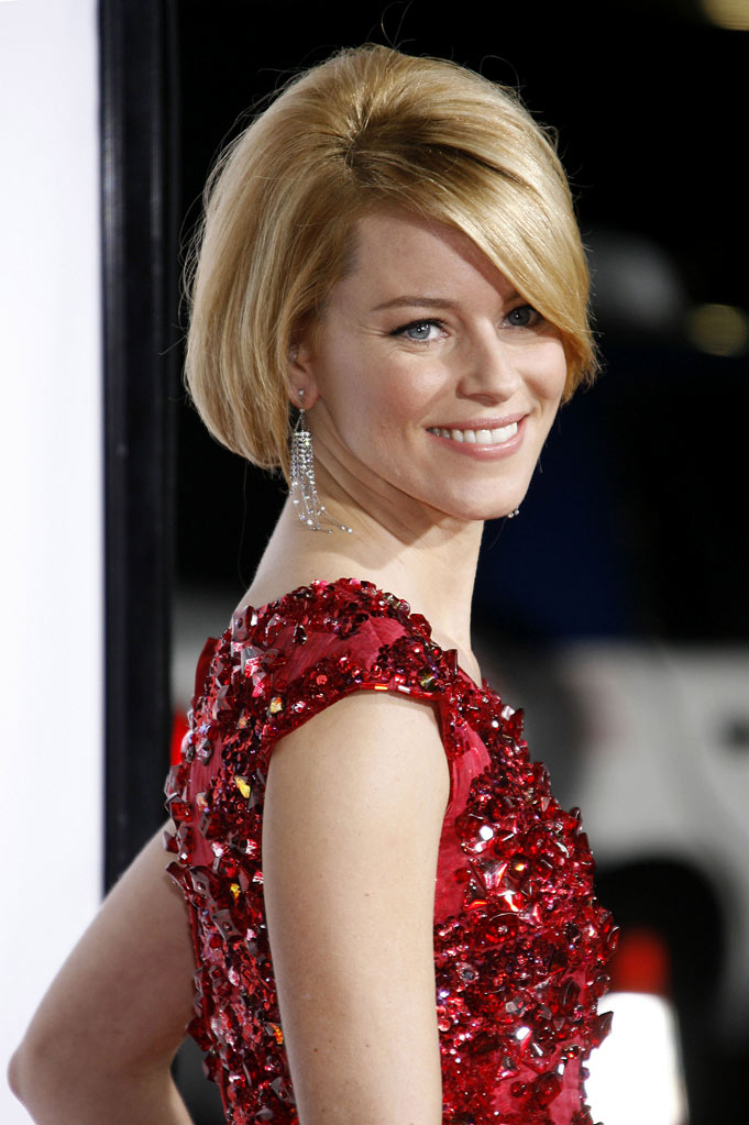 "Elizabeth Banks arrives at the Los Angeles Premiere of ""Zack And Miri Make A Porno""  at the Grauman's Chinese Theater on October 20, 2008 in Los Angeles, California."