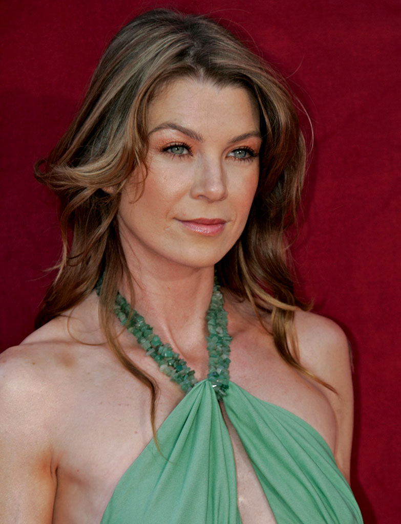 Ellen Pompeo at The 57th Annual Primetime Emmy Awards.