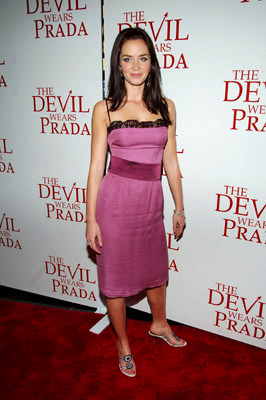Premiere: Emily Blunt at the NY premiere of 20th Century Fox's The Devil Wears Prada - 6/19/2006