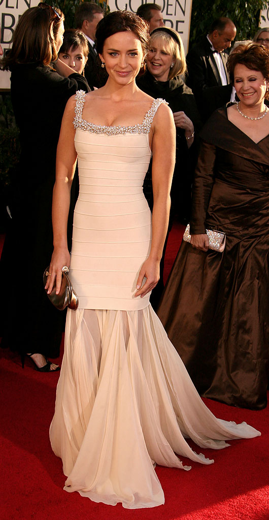 Emily Blunt at the 64th annual Golden Globe Awards.