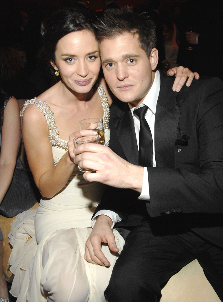Emily Blunt and Michael Buble at the In Style and Warner Bros. 2007 Golden Globe After Party.
